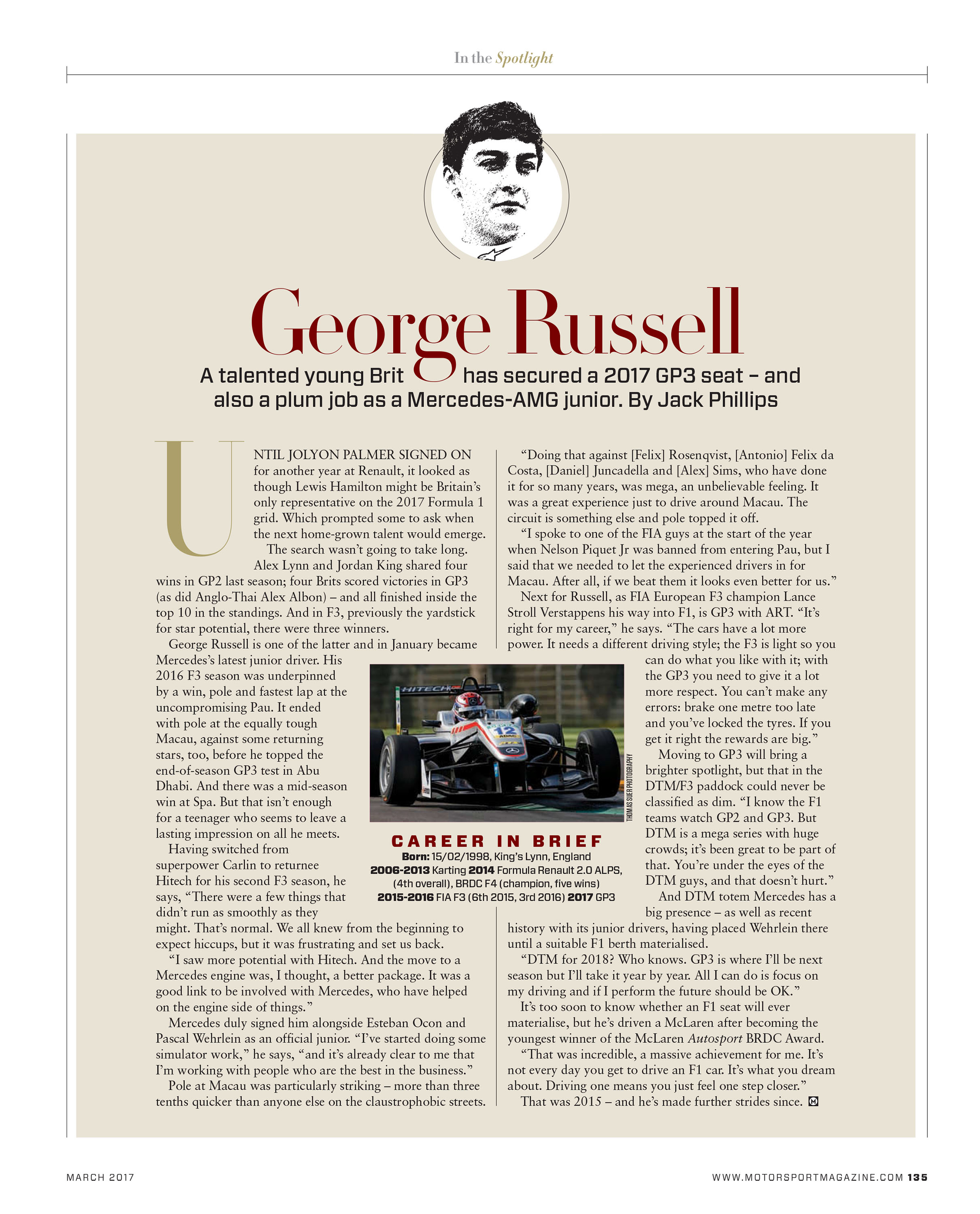 In the spotlight: George Russell image