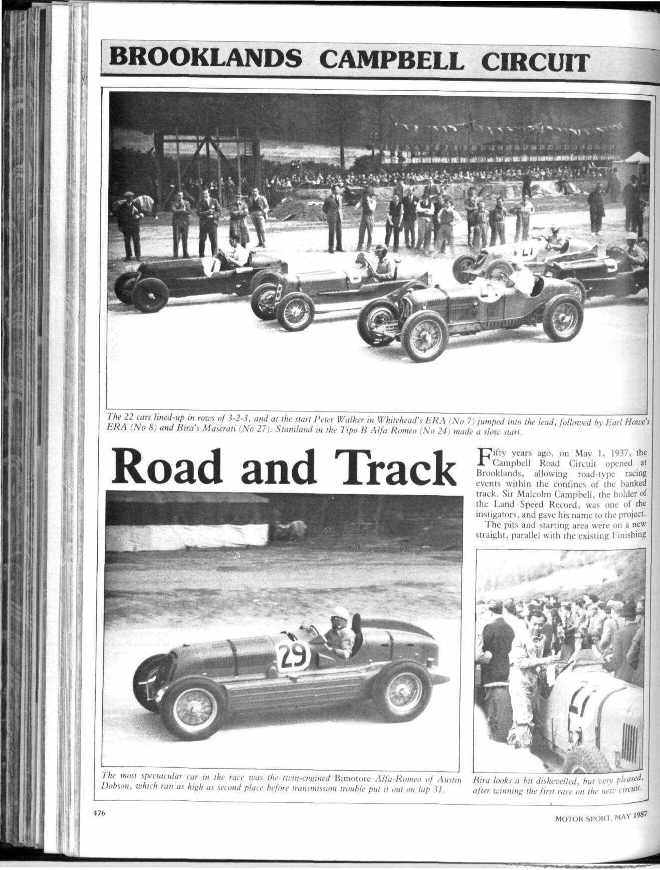 Brooklands Campbell circuit: Fiftieth anniversary | Motor Sport ...