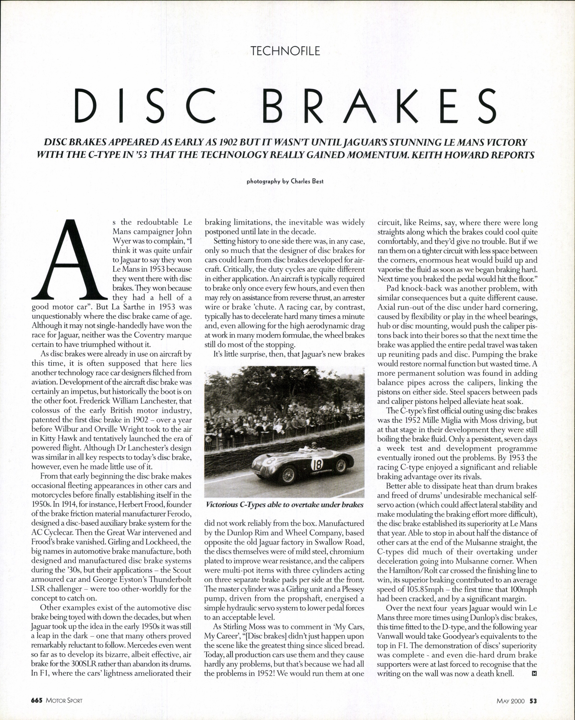 Disc Brakes Motor Sport Magazine Archive All Info About Auto Repair Brake Mechanical Force Diagram