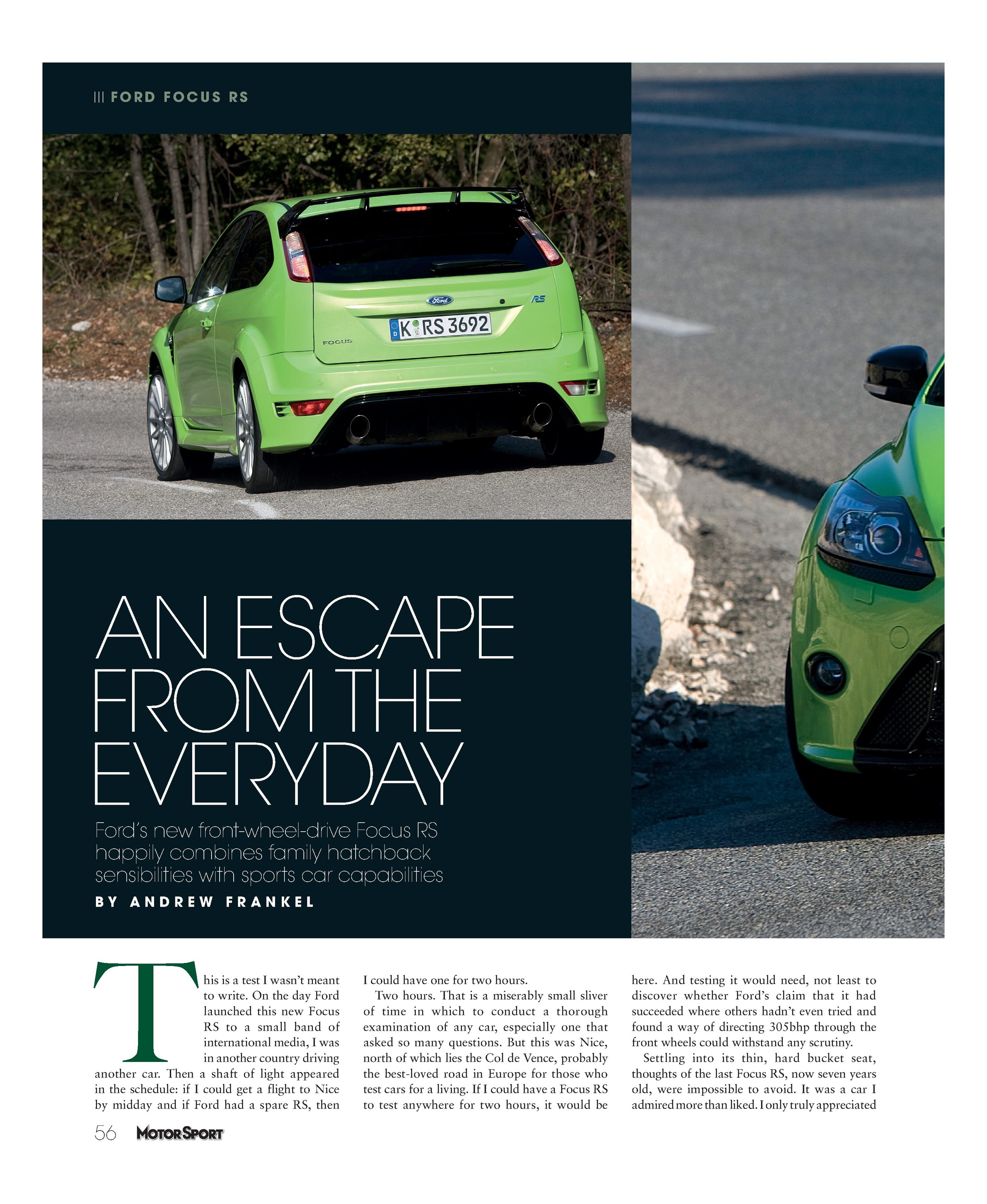 An escape from the everyday | Motor Sport Magazine Archive