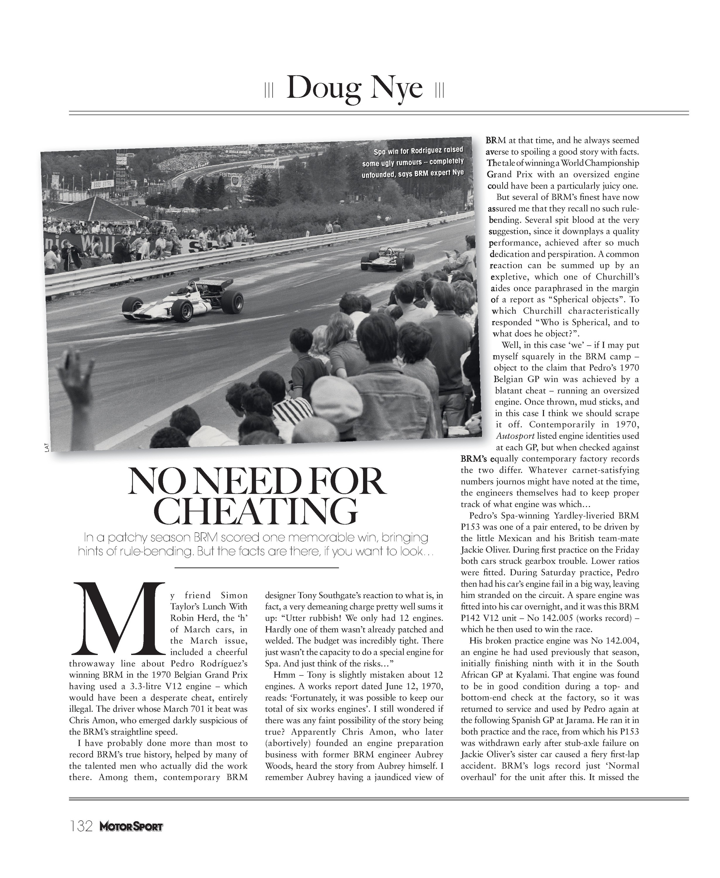 No need for cheating | Motor Sport Magazine Archive