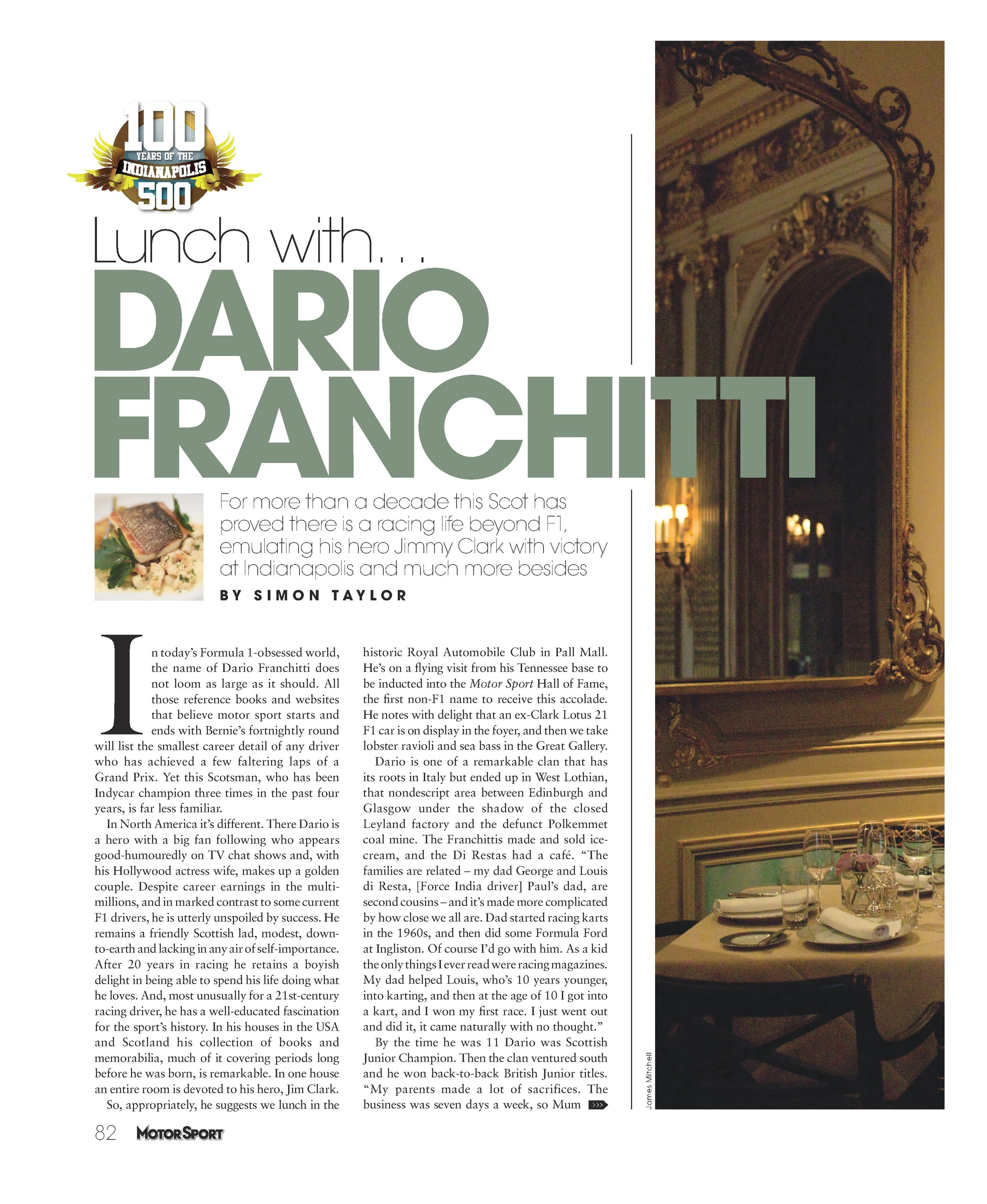Lunch with... Dario Franchitti image