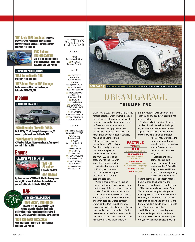 Dream Garage Triumph Tr3 Motor Sport Magazine Archive