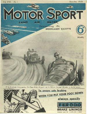 Cover image for November 1931