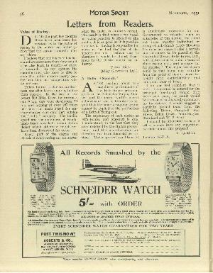 Page 38 of November 1931 archive issue thumbnail