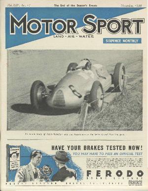 Cover image for November 1938
