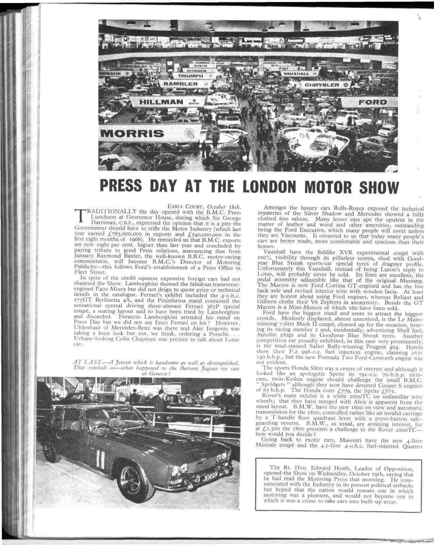 London Motor Cars >> Press Day At The London Motor Show Motor Sport Magazine