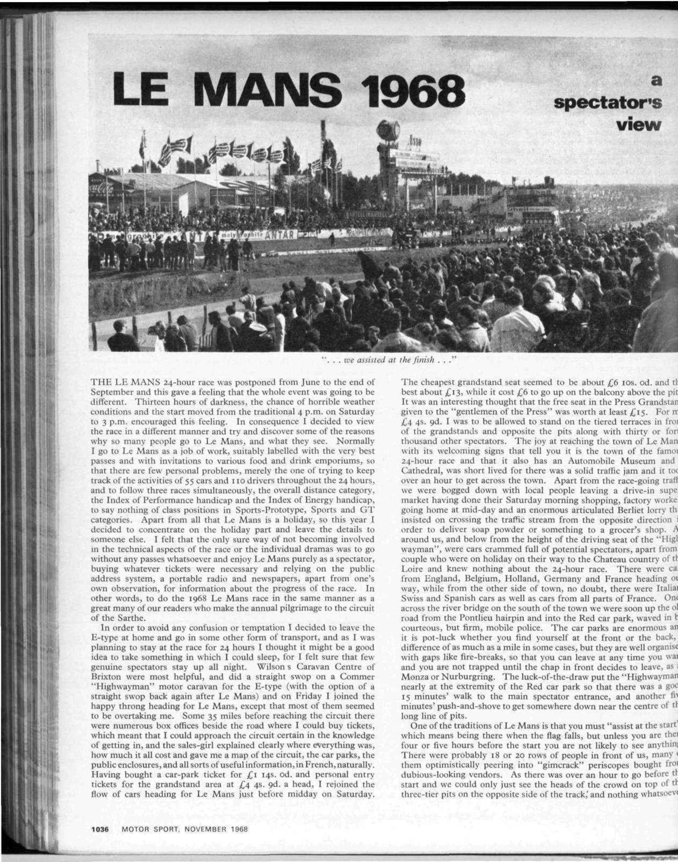 le mans 1968 image