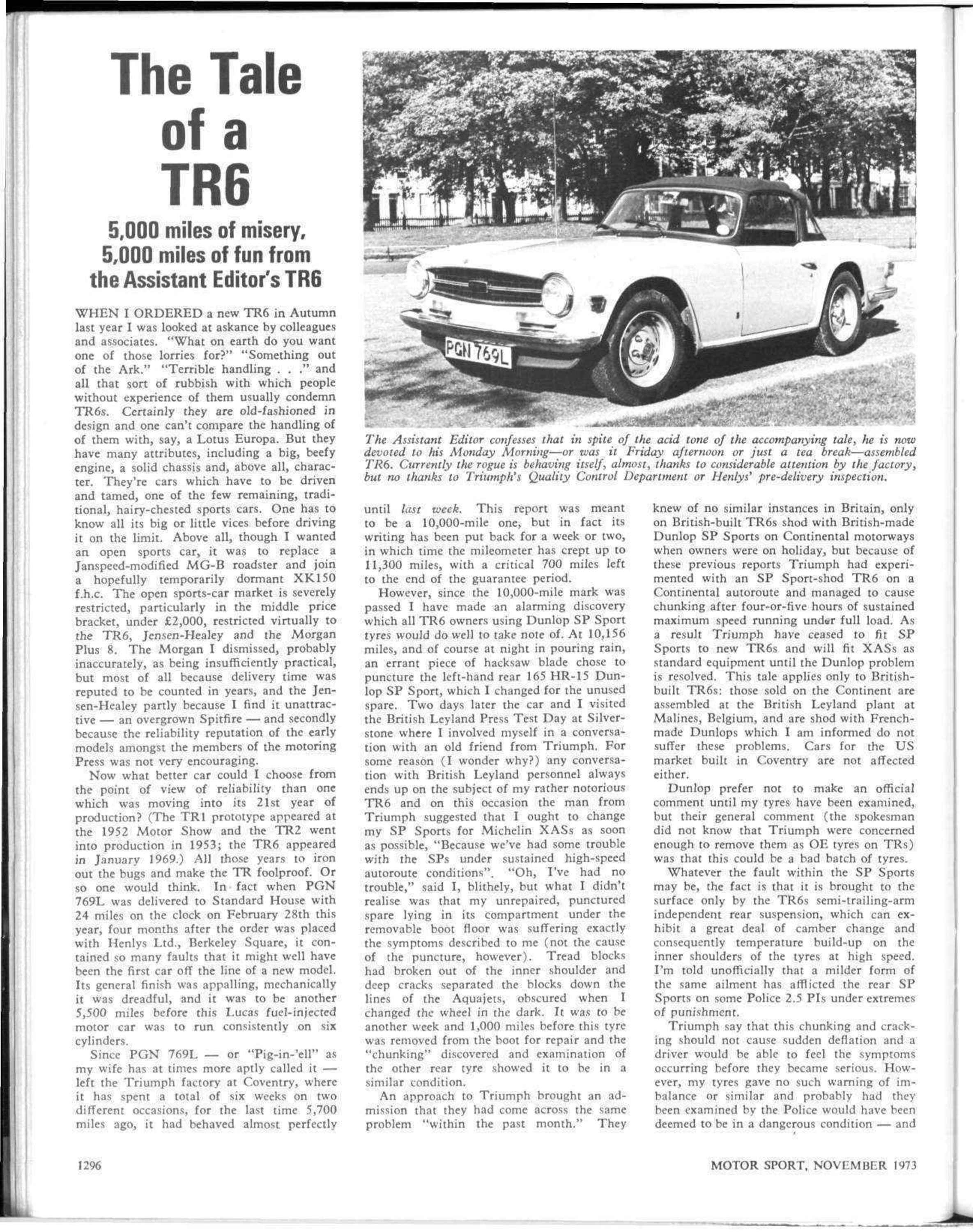The Tale Of A Tr6 Motor Sport Magazine Archive