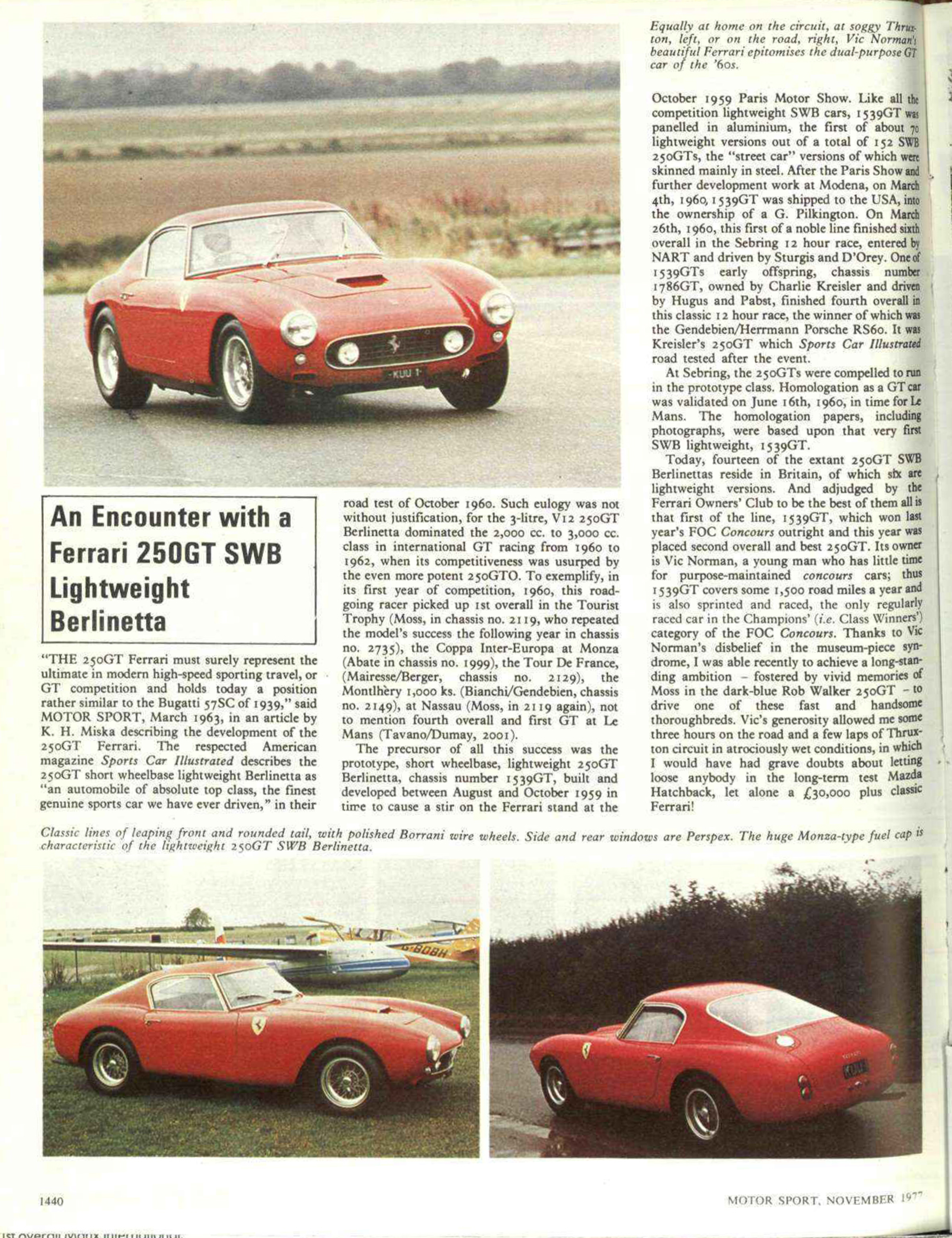 an encounter with a ferrari 250gt swb lightweight  image