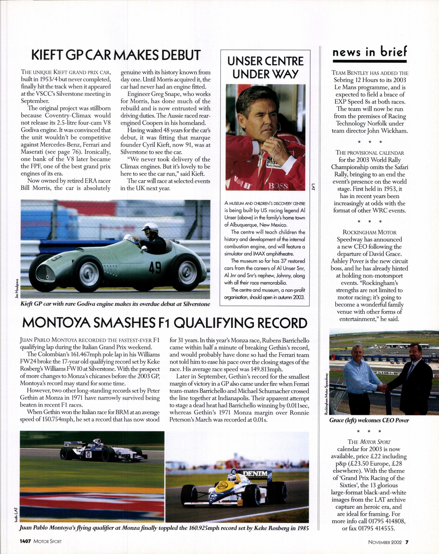 montoya smashes f1 qualifing record image
