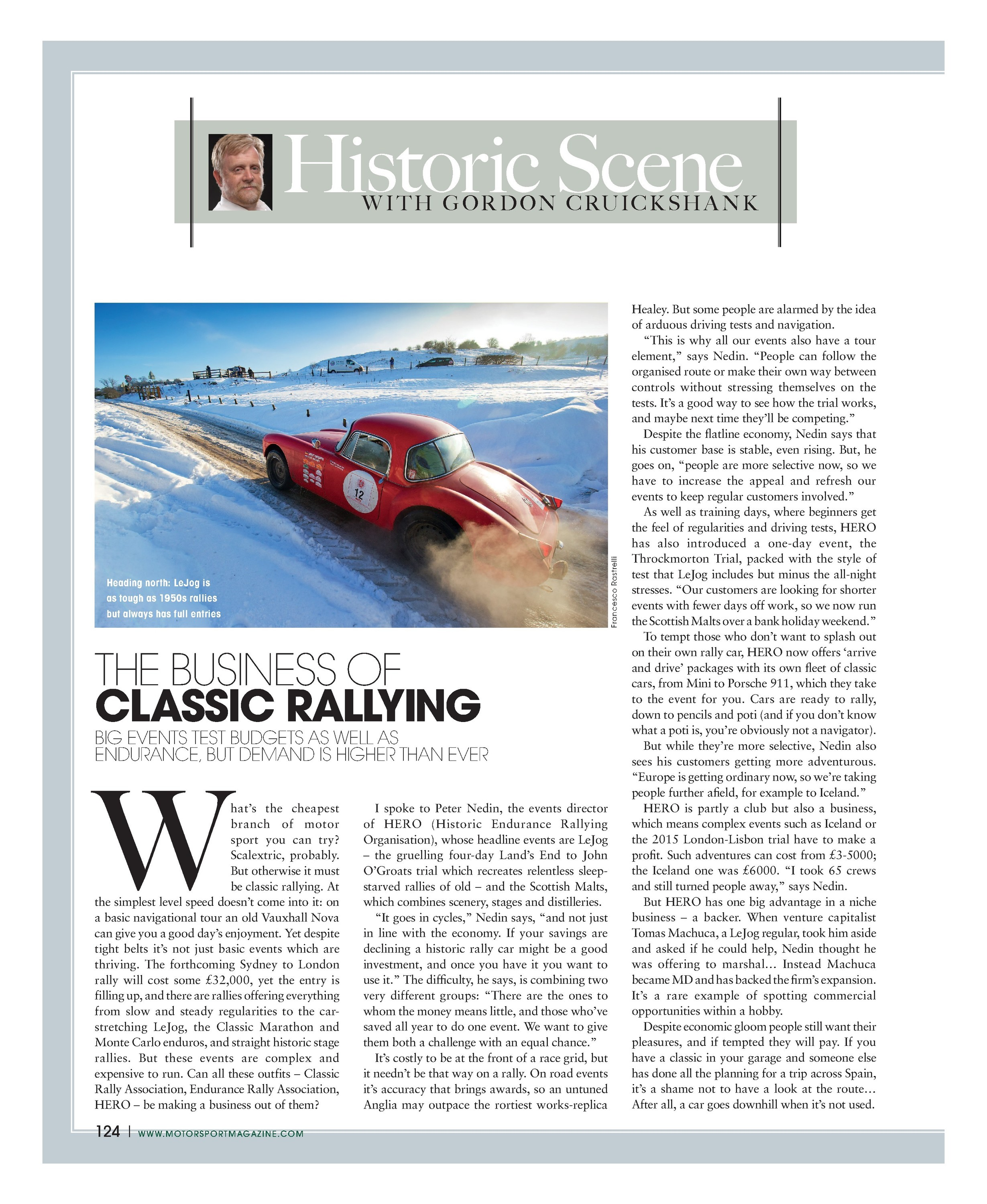 The business of classic rallying | Motor Sport Magazine Archive