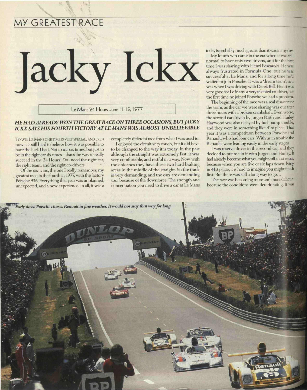 My greatest race   Jacky Ickx image