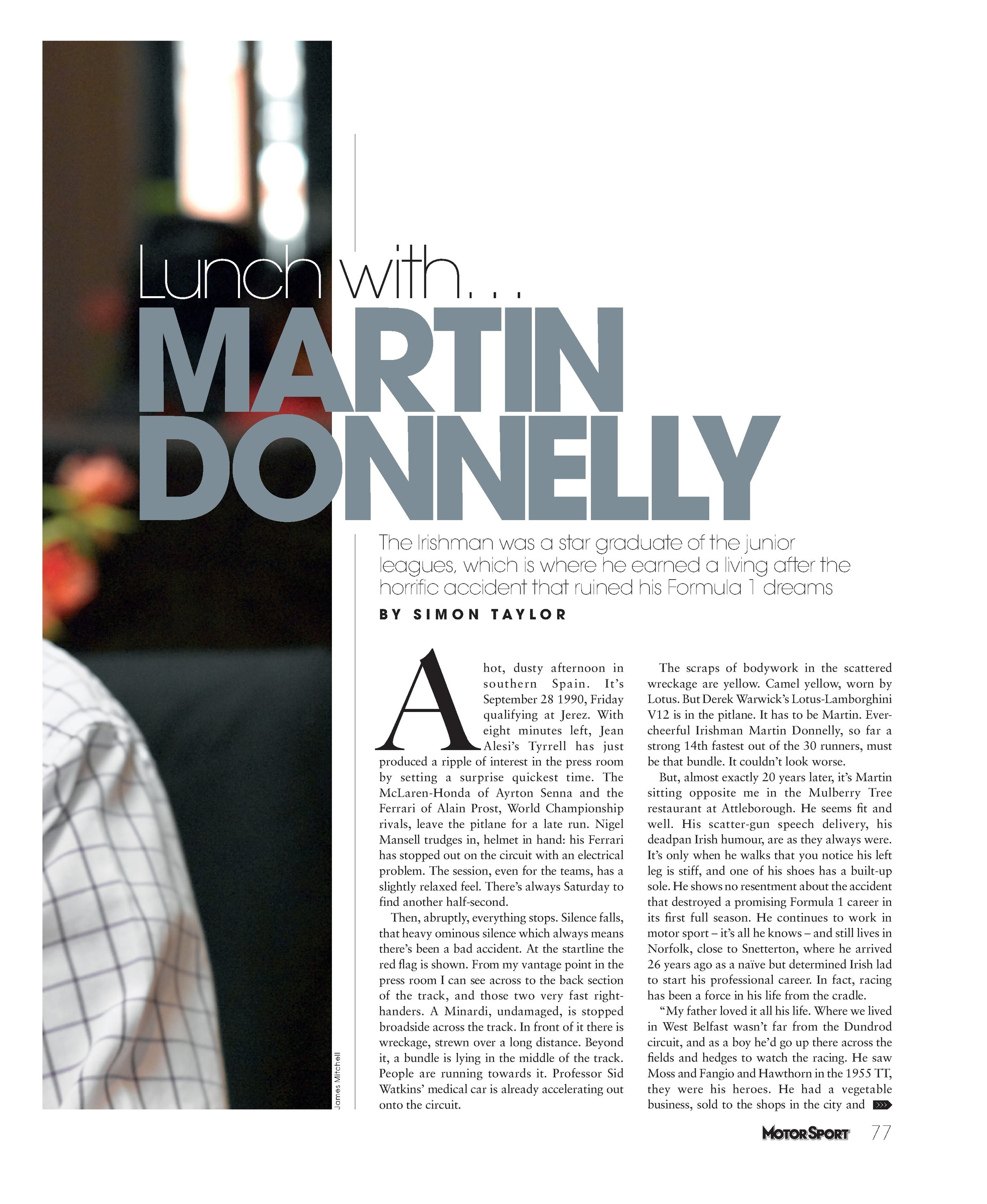 lunch with martin donnelly image