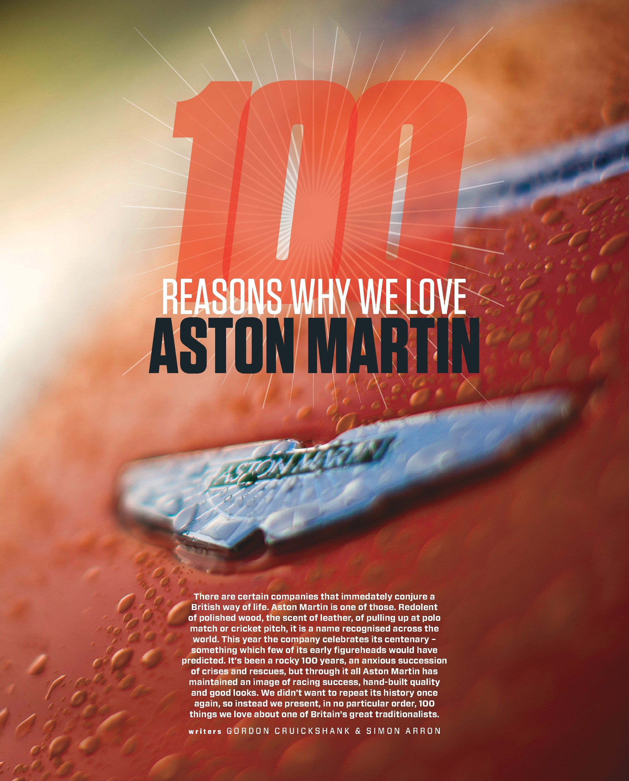 100 reasons why we love Aston Martin image