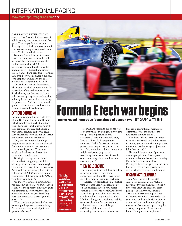 Formula E tech war begins image