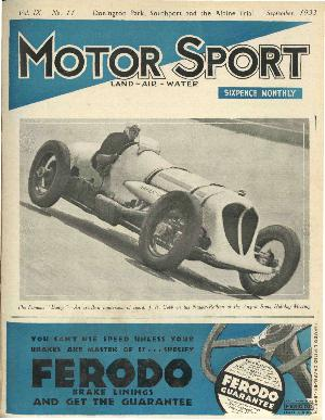 Cover of archive issue September 1933