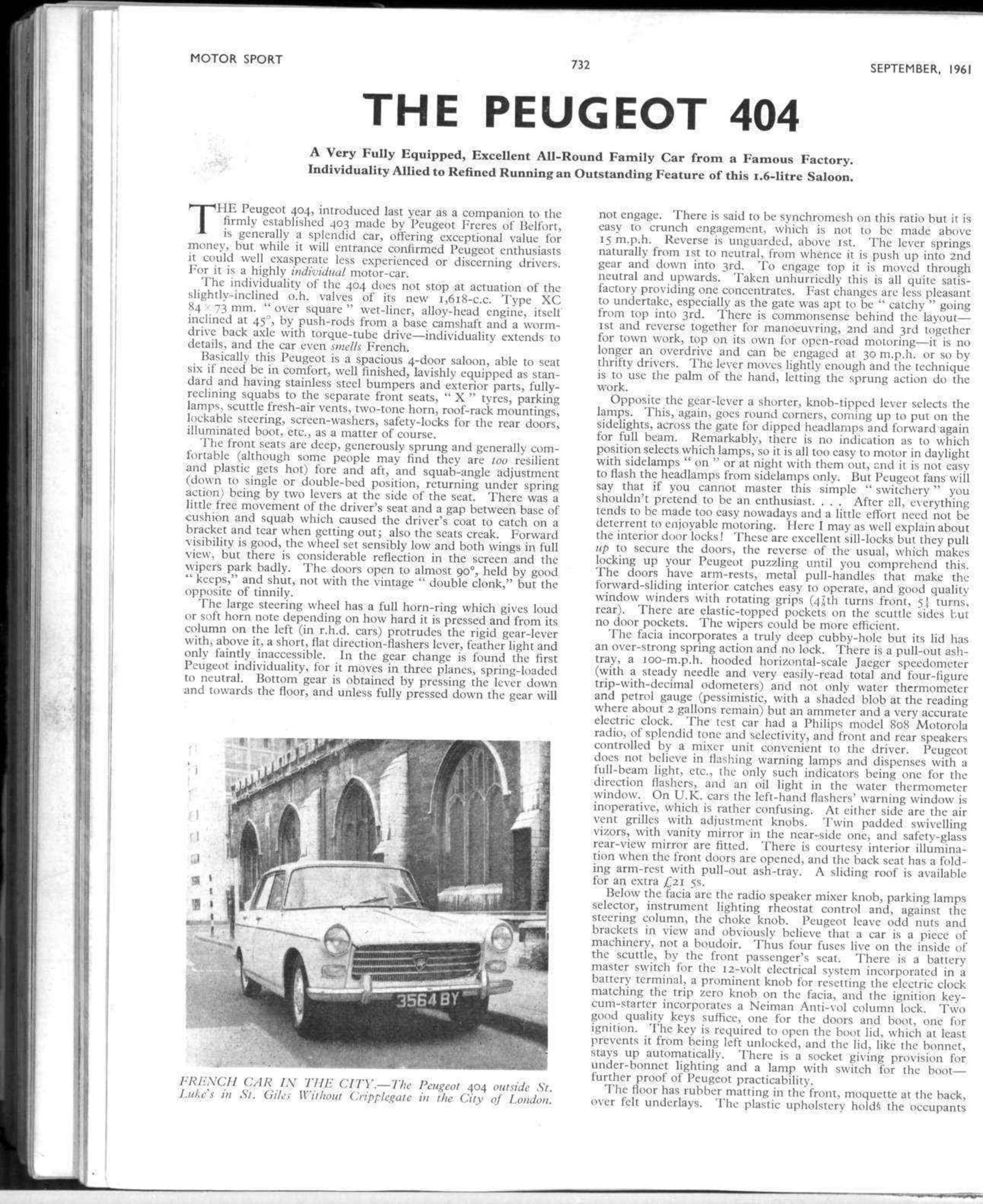 The Peugeot 404 Motor Sport Magazine Archive Squab Wiring Diagram