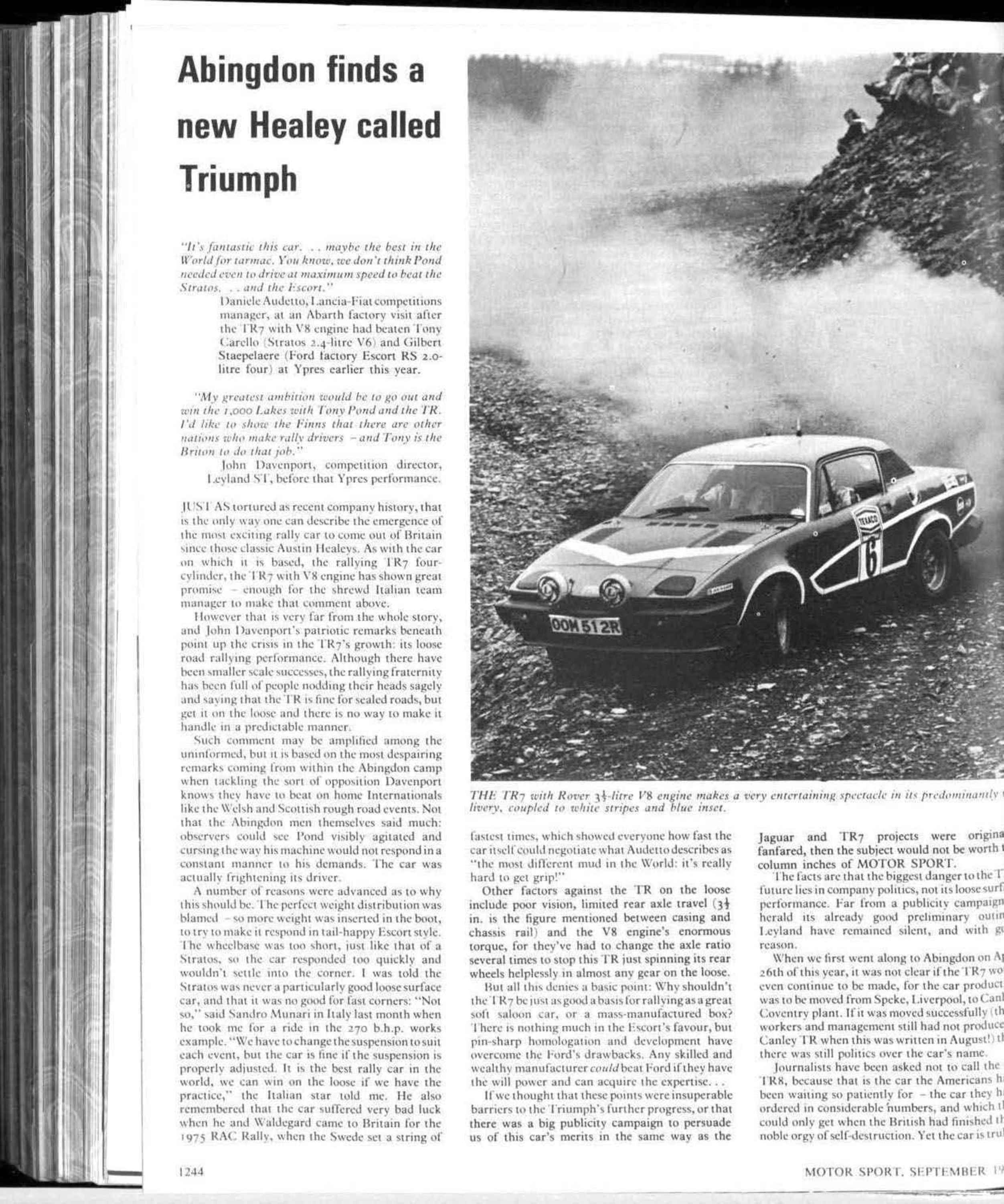 Abingdon Finds A New Healey Called Triumph Motor Sport Magazine