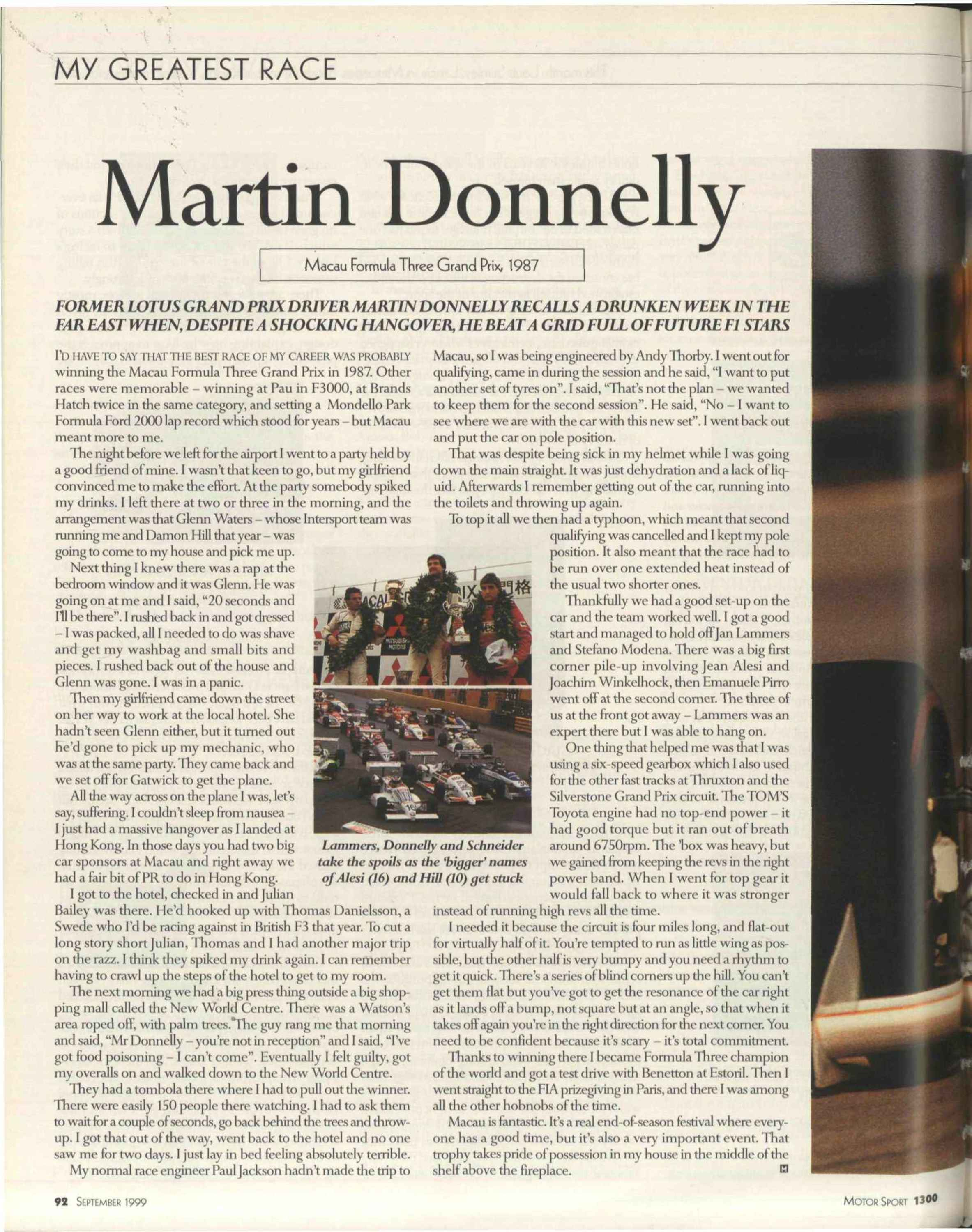 martin donnelly image