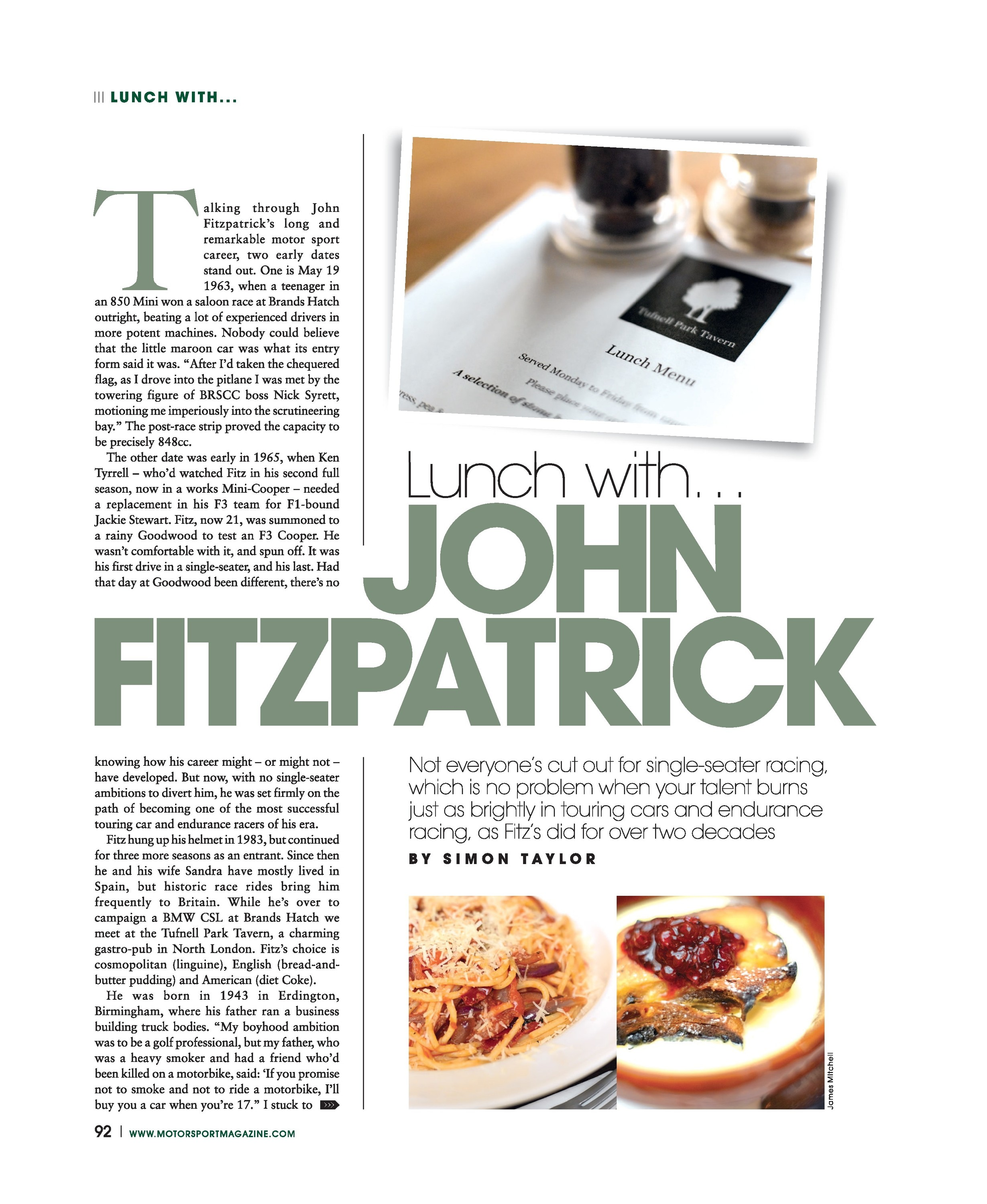 Lunch with…John Fitzpatrick image